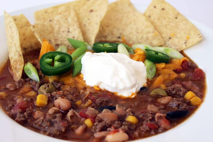 Pressure Cooker Taco Soup | The Foodie Eats