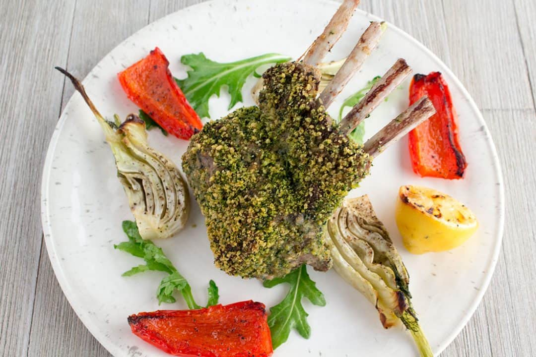 Mint-Crusted Rack of Lamb | The Foodie Eats
