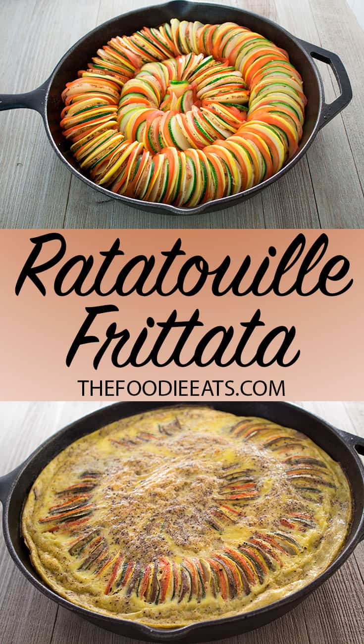 Ratatouille Frittata | The Foodie Eats
