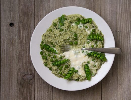 Pressure Cooker Risotto with Spring Peas and Mint | The Foodie Eats