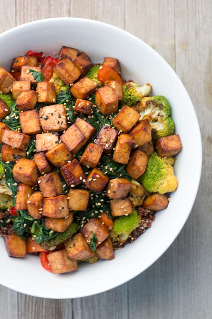Air Fryer Tofu Buddha Bowl | The Foodie Eats