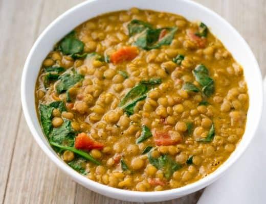 Instant Pot Lentil Dal | The Foodie Eats