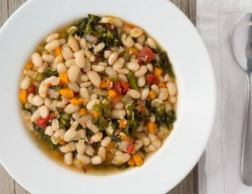 Vegan Instant Pot White Bean Soup | The Foodie Eats