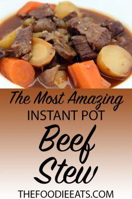 Pressure Cooker Beef Stew | The Foodie Eats