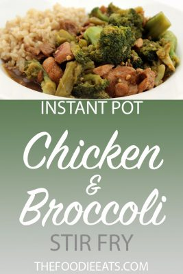 Pressure Cooker Chicken and Broccoli Stir Fry | The Foodie Eats