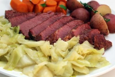 Pressure Cooker Corned Beef and Cabbage | The Foodie Eats