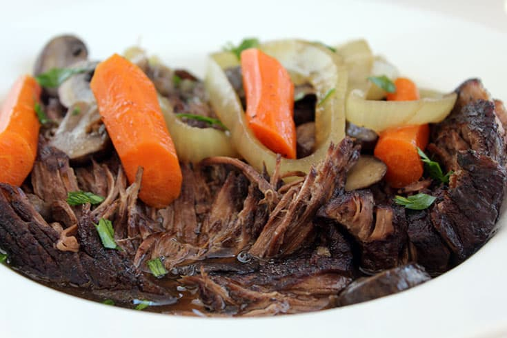 Pressure Cooker Pot Roast | The Foodie Eats