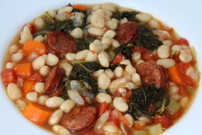 Pressure Cooker White Bean Soup | The Foodie Eats