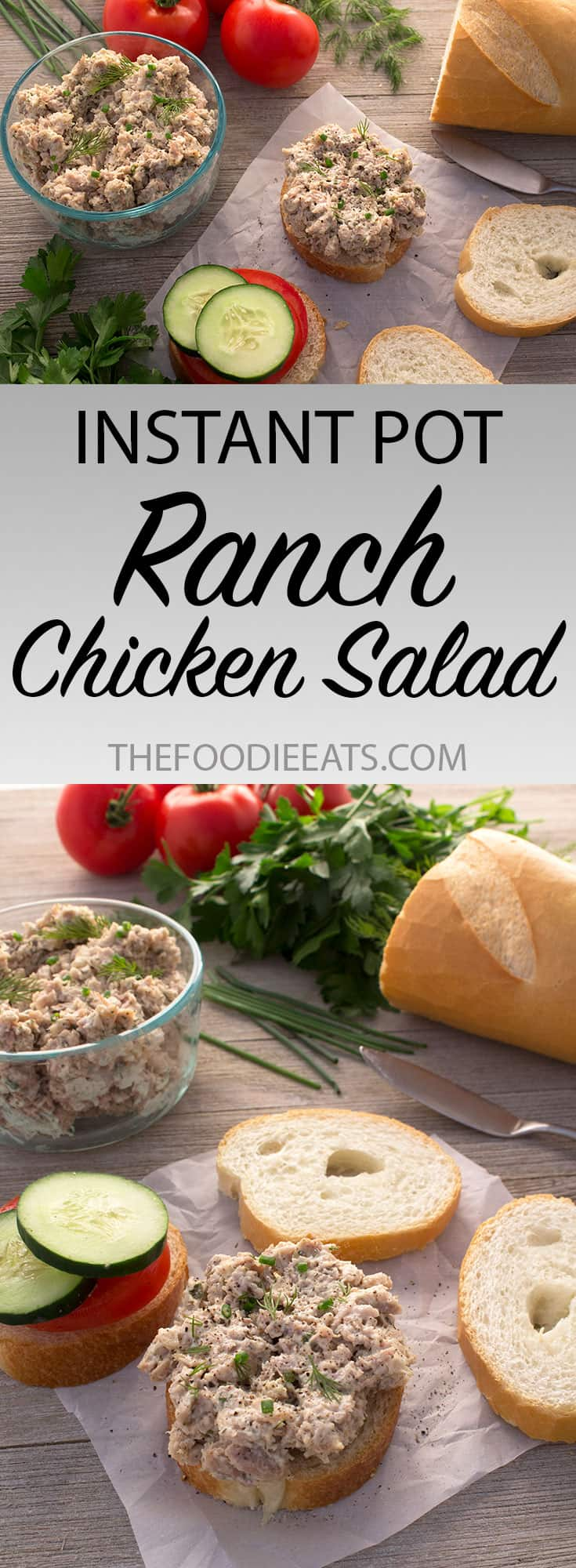Pressure Cooker Chicken Salad | The Foodie Eats