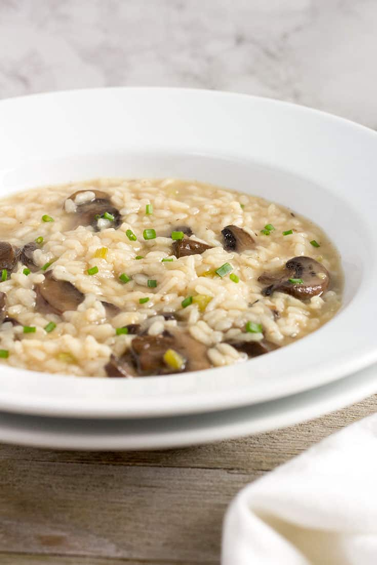 Pressure Cooker Mushroom Risotto | The Foodie Eats