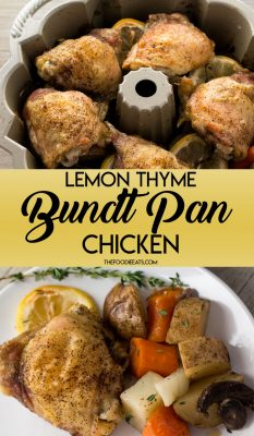 Lemon-Thyme Bundt Pan Chicken: With roasted vegetables, this easy, one pan meal is the perfect weeknight dinner.