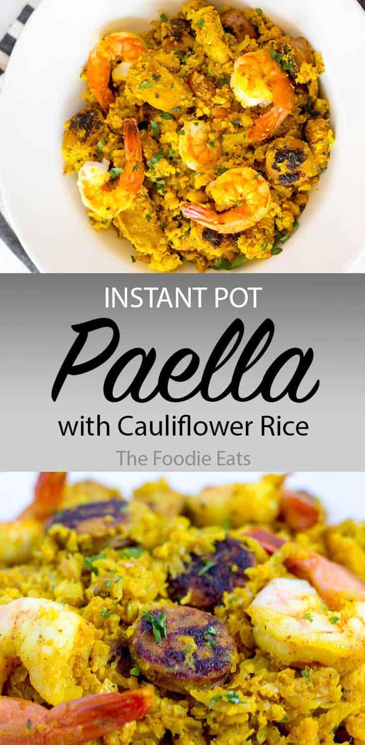 Instant Pot Paella image for Pinterest
