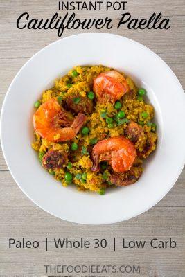 Pressure Cooker Cauliflower Paella | The Foodie Eats