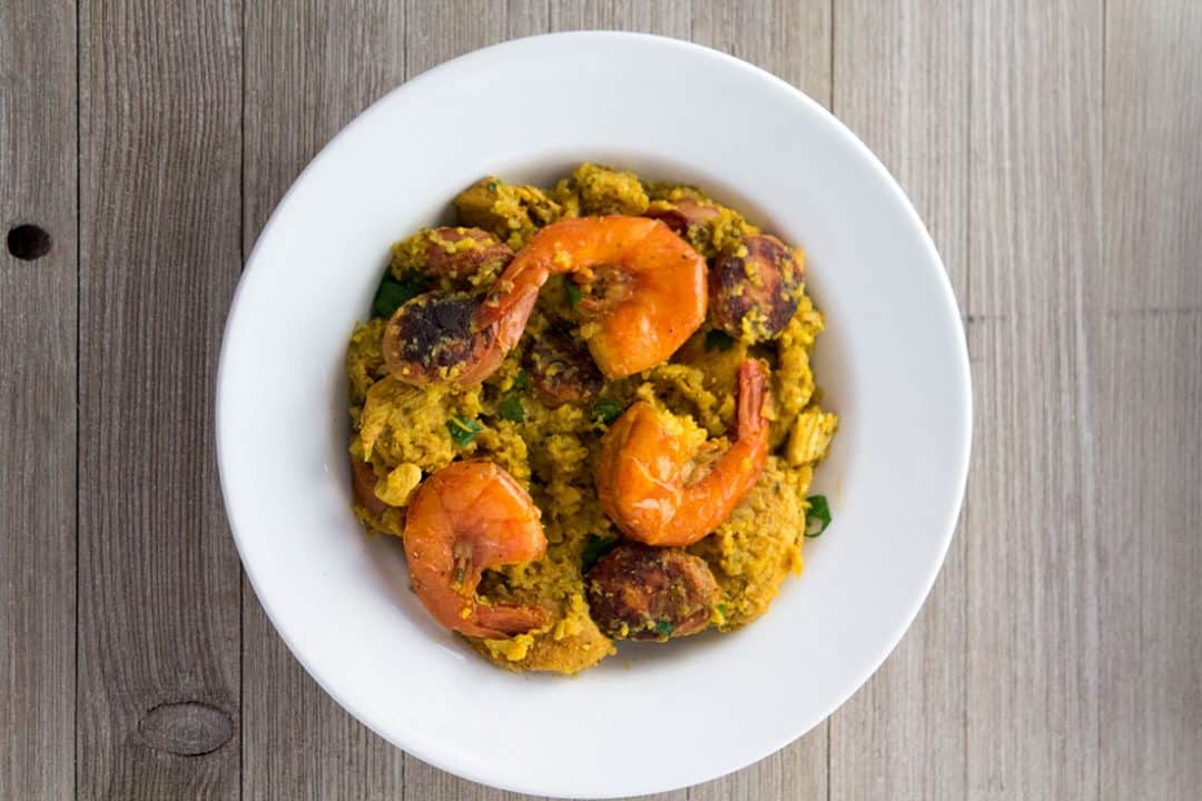 Pressure Cooker Cauliflower Paella | The Foodie Eats