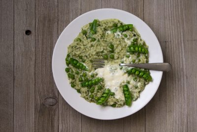 Pressure Cooker Risotto with Spring Peas and Mint   The Foodie Eats