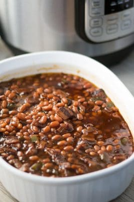 Pressure Cooker Southern Baked Beans | Southern Comfort Food | Instant Pot | Barbecue | Indoor Barbecue | Gluten-Free | Dairy-Free | The Foodie Eats