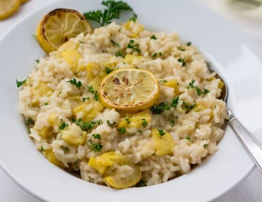 Pressure Cooker Lemon Risotto with Summer Squash | Instant Pot | Gluten-Free | The Foodie Eat