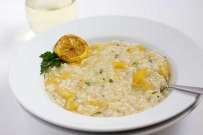 Pressure Cooker Lemon Risotto with Summer Squash | The Foodie Eats