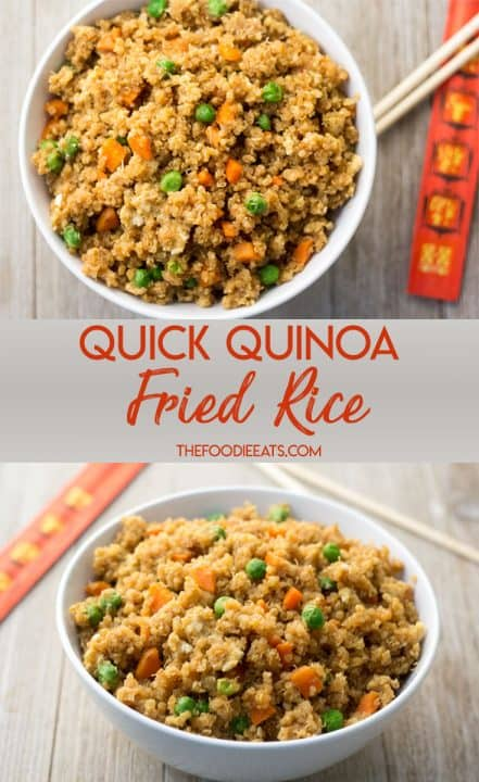 Quick Quinoa Fried Rice: A quick, nutritious weeknight meal. Easy | Gluten-Free | Dairy-Free | Vegetarian