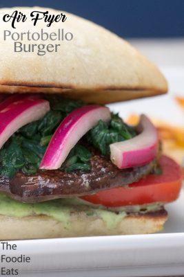 Air Fryer Portobello Burger | The Foodie Eats