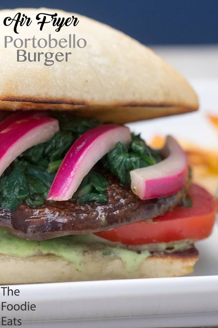Air Fryer Portobello Burger | The Foodie Eats