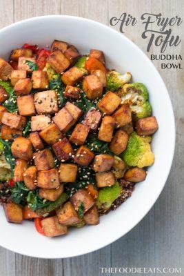 Air Fryer Tofu Buddha Bowl   The Foodie Eats
