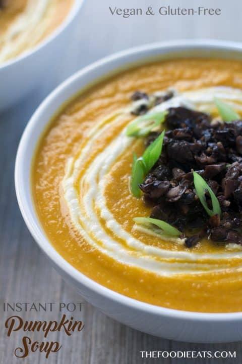 Instant Pot Pumpkin Soup   The Foodie Eats