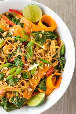 Thai Noodle Salad with Sweet and Spicy Peanut Sauce | The Foodie Eats
