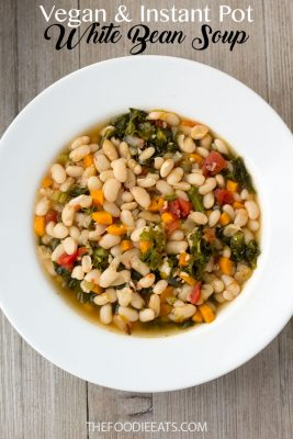 Vegan Instant Pot White Bean Soup   The Foodie Eats