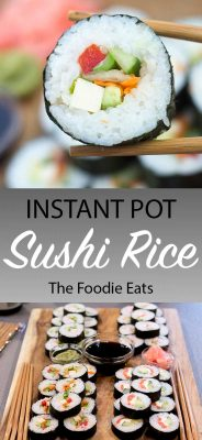 Instant Pot Sushi Rice Recipe | The Foodie Eats