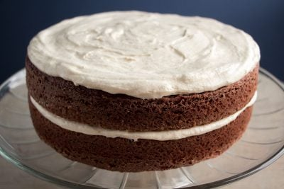 Kahlua Red Velvet Cake with Baileys Cream Cheese Icing | The Foodie Eats