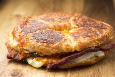 Leftover Ham Recipe | Hawaiian Pizza Grilled Cheese Sandwich | The Foodie Eats