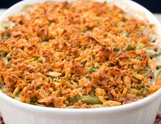 Vegan Green Bean Casserole | The Foodie Eats