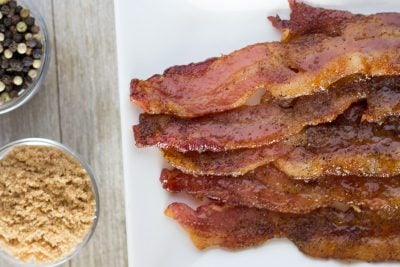 Brown Sugar Bacon with Cracked Black Pepper | The Foodie Eats