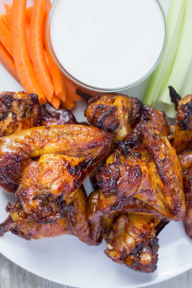 Air Fryer Chicken Wings - Spicy, Sweet & Savory | The Foodie Eats