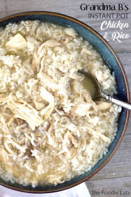Pressure Cooker Chicken and Rice | The Foodie Eats