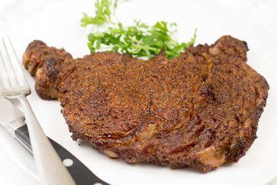 Air Fryer Steak - Coffee & Spice Ribeye | The Foodie Eats