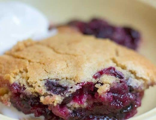 Boozy Easy Blueberry Cobbler