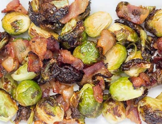 Maple Bacon Brussels Sprouts | The Foodie Eats