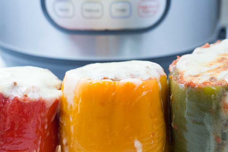 Pressure Cooker Stuffed Peppers | The Foodie Eats