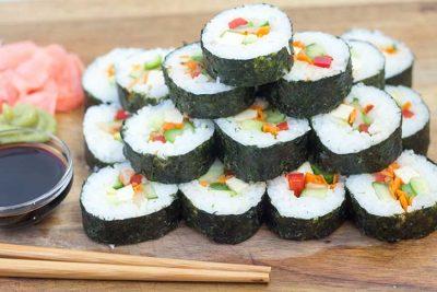 Vegan Sushi Recipe | The Foodie Eats
