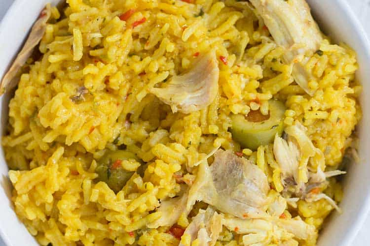 Pressure Cooker Arroz con Pollo (Pressure Cooker Chicken and Rice) | The Foodie Eats