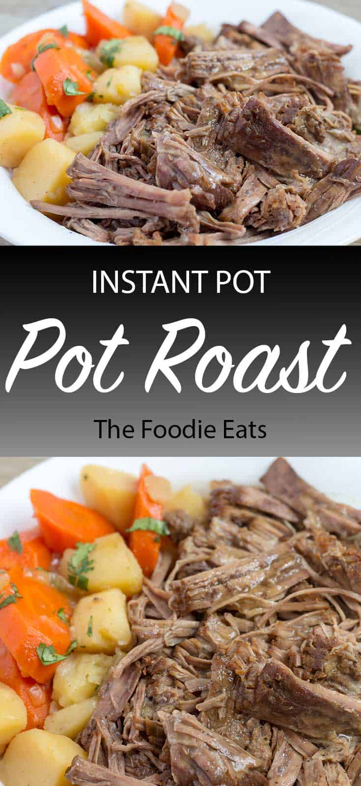Pressure Cooker Pot Roast with text