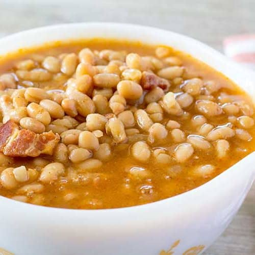 Instant Pot Baked Beans - Quick, Sweet, and Tangy | The Foodie Eats