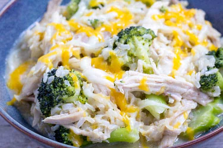 "Pressure Cooker Chicken Broccoli Rice ""Casserole"" - The Foodie Eats"