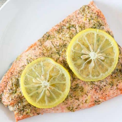 Instant Pot Salmon with Lemon, Pepper & Dill | The Foodie Eats