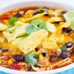 Instant Pot Chicken Tortilla Soup | The Foodie Eats