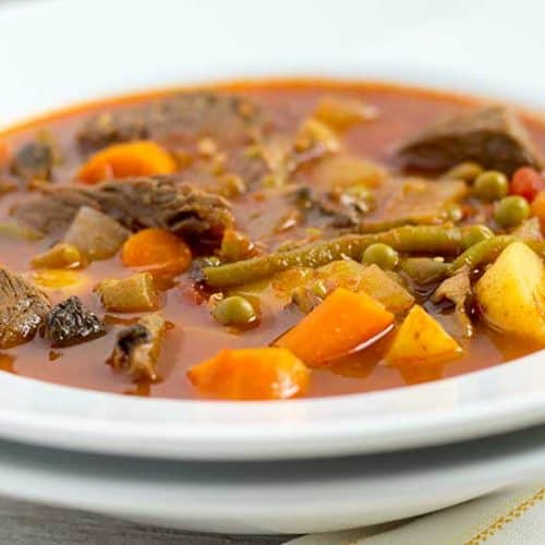 Pressure Cooker Beef Vegetable Soup | The Foodie Eats