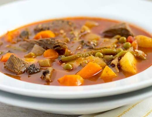 Pressure Cooker Beef Vegetable Soup | The Foodie Eats
