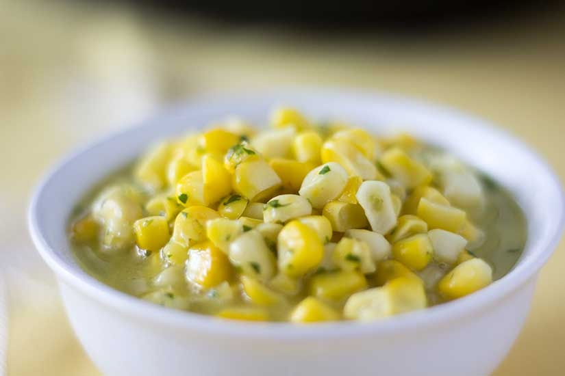 Instant Pot Corn - Cilantro-Lime Creamed Corn | The Foodie Eats